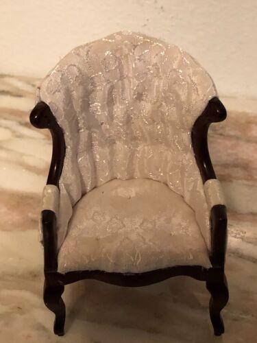 Dollhouse Miniature chair Mahogany 1:12