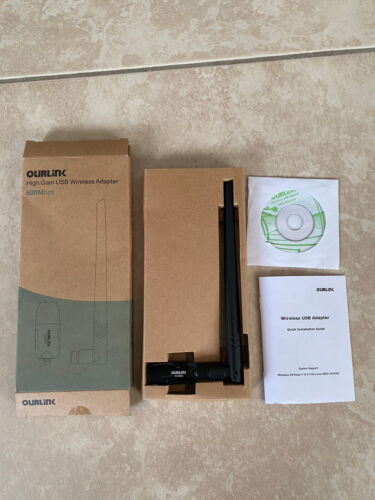 Ourlink High Gain USB Wireless Adapter 600 Mbps New In Box - $9.99