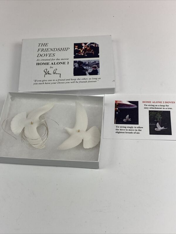 HOME ALONE 2 DOVES AUTHENTIC & GENUINE made for the film by John Perry, Birds