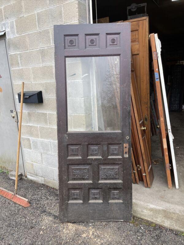 Bova 55 Antique Carved Entrance Door 31.75 X 83.5 X 1 3/8 Thick Eastlake