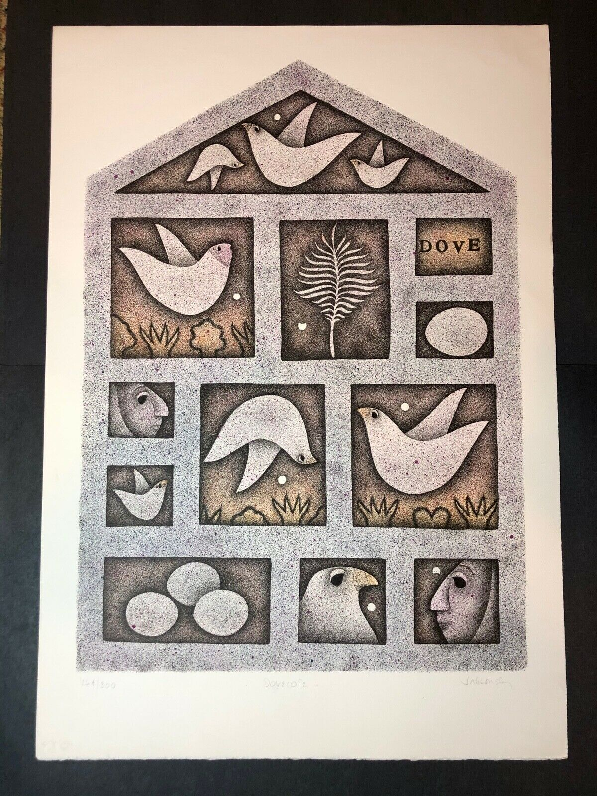 Carol Jablonsky Lithograph Art Print – Dovecote Limited Edition 164/300 Art