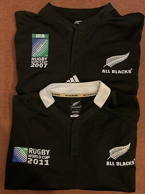 Adidas New Zealand Rugby World Cup 2007 & 2011 Shirt Size Large All Blacks