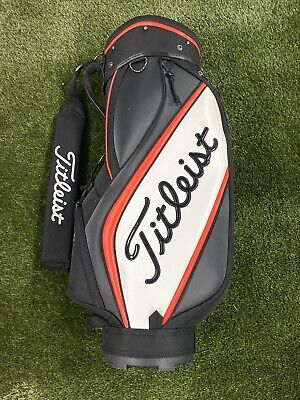 Titleist Trial Set Display Cart Golf Bag Mini Staff Black Red White 6-Way Divide