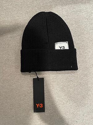 Y-3 YOHJI YAMAMOTO Adidas CL CLASSIC Logo BEANIE Knit Hat Cap RARE Black Unisex