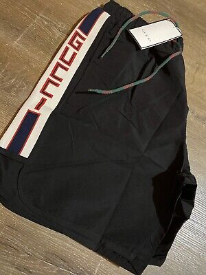 Gucci Swimming Shorts Black Uk Size Medium