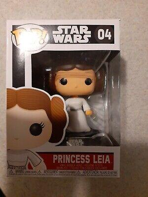 STAR WARS Princess Leia #04 Vaulted Funko Pop (Black Box) VHTF RARE NEW IN HAND
