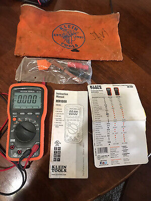 Klein Tools Mm1000 Multi-meter Auto-range Electricianhvac Includes Leads