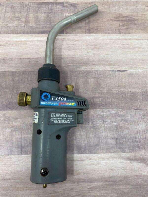 TurboTorch 0386-1293 TX-504 Torch Swirl, MAP-Pro/Propane, Self Lighting USED