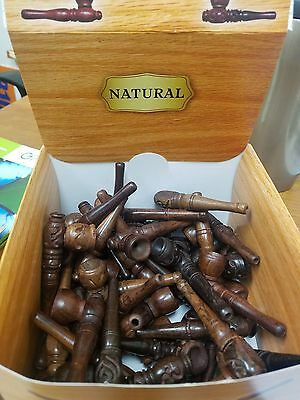 "- 3"" Smoke Pipe Crafted Real Wooden Mini Smoke Pipes Pocket Size Tobacco"