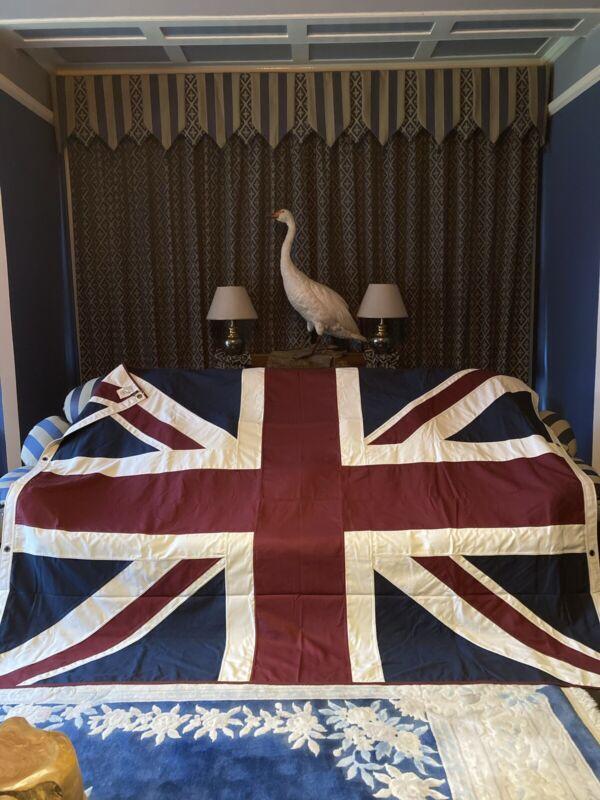 Extra Large Heavy Duty Cotton Union Jack Throw/ Flag (V/ White 240 X180cms )