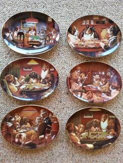 DOGS PLAYING POKER COLLECTORS PLATES - 6