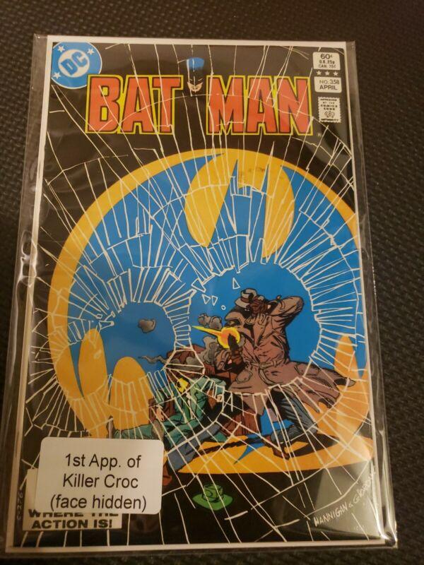 Batman #358 (Apr 1983, DC) Key Issue 1st Killer Croc