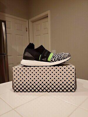 New WOMENS STELLA MCCARTNEY BLACK MULTI ULTRABOOST X 3.D VEGAN Sneakers ANIMAL