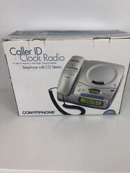 Vintage Conairphone Cd Alarm Clock Radio CID502 w/ caller I.D.