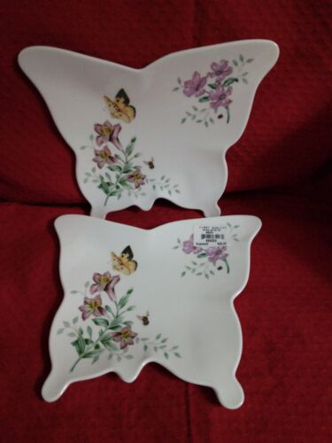 Lenox Butterfly Meadow Set Of 2 Serving Trays Small Melamine