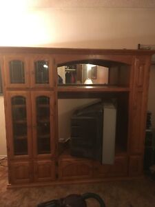 Entertainment center for $200 solid oak