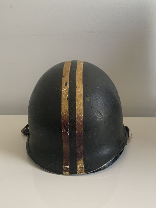 Vintage WW2 Military Helmet With Liner