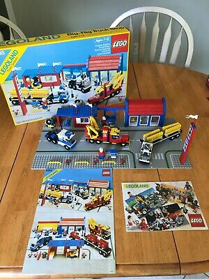 1987 LEGO 6393 BIG RIG TRUCK STOP COMPLETE LEGOLAND TOWN SYSTEM