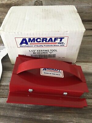 Amcraft 1084 Red 1-12 90 V Kerfing Tool For Duct Board