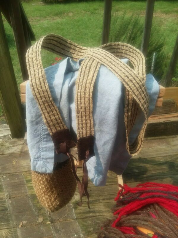 Handwoven powderhorn strap Nettle Hemp Reenactor F&I  Mountain Man Blackpowder