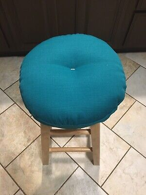 bar stool cushioned cover in home decore fabric Turquoise/off White - Color Bar Stool Home Decor
