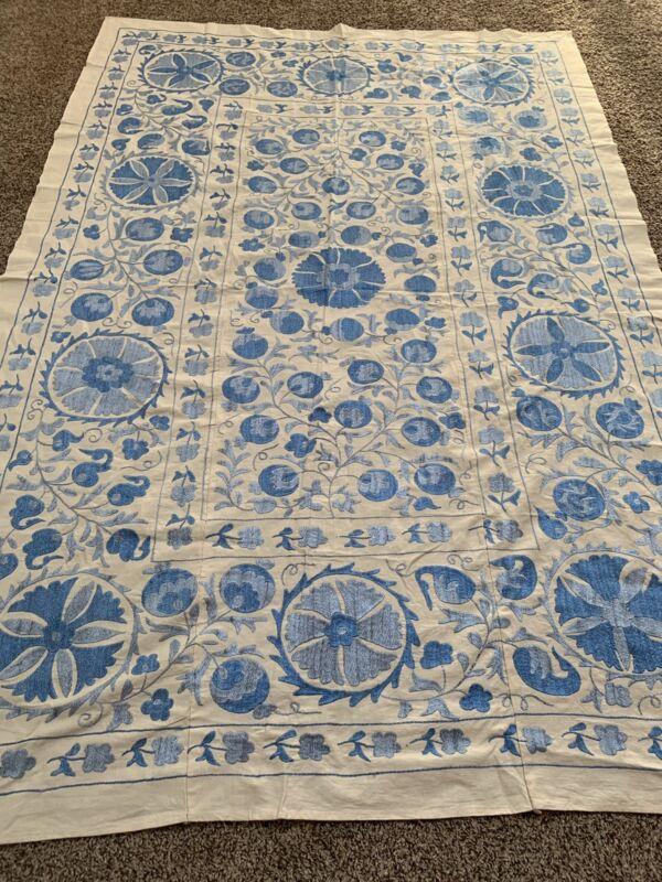Antique Vintage Original Handmade Embroidery Tablecloth Suzani SALE WAS $499.00