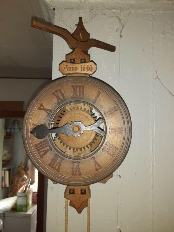 "Antique Rock Driven Clock ""Anno 1640"" Rombach & Haas Model 7640 Wooden Movement"