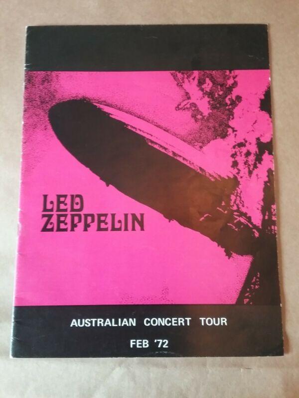 Led Zeppelin Australian Tour Program