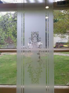 Corinthian Glass panel for doors used $50 the pai Blackheath Blue Mountains Preview