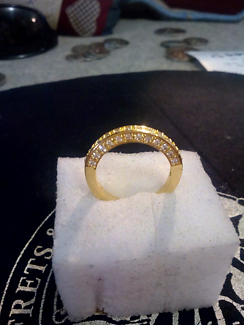 17k gold filled ladies ring