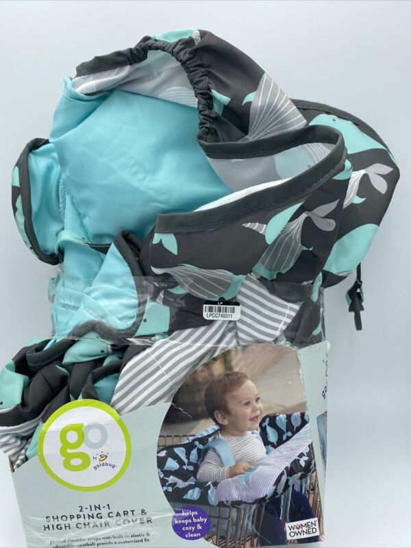 Go by Goldbug 2 in 1 Shopping Cart & High Chair Cover New Open Box