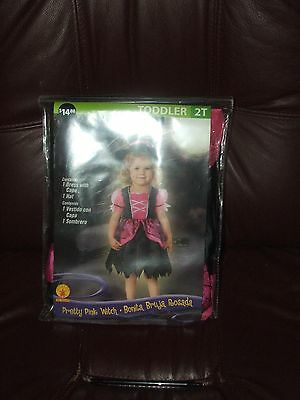 Pretty Pink Witch Halloween Costume Toddler SZ 2T BRAND NEW](Toddler Pink Witch Costume)