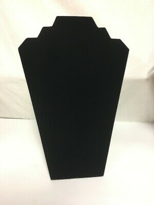 Black Velvet Necklace Jewelry Display Organizer Stand 12.5 Inch