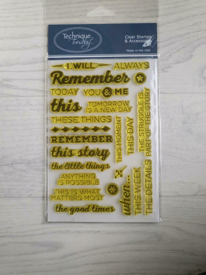 Stempel - Clear Stamp - Technique Tuesday - Say it - Remember in Bochum - Bochum-Wattenscheid