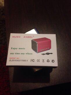 Music Angel. Mini loud speaker.  Strathmore Moonee Valley Preview