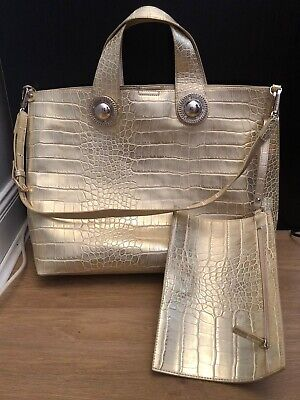 Versace Bag Gold Matching Purse Good Condition Holiday Beach Occasion