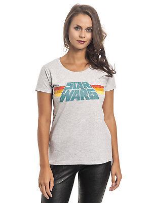 Star Wars Vintage 77 Damen T-Shirt Grau Melange