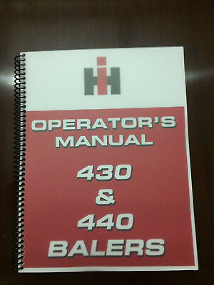 International Harvester 430 440 Balers Baler Operators Manual Owners Manual