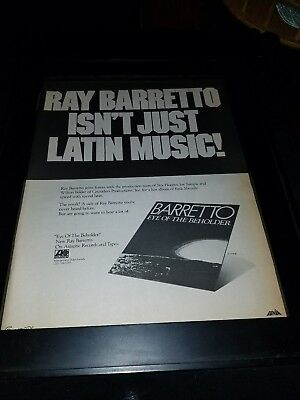 Ray Barretto Eye Of The Beholder Rare Original Promo Poster Ad Framed!
