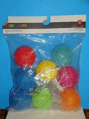 String Lights, battery operated, 1 set of 8 count, indoor use only, 3.5' length - Battery Operated String Of Lights