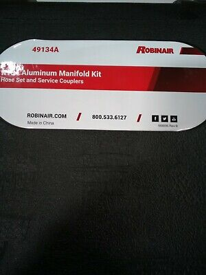 Robinair 49134a R134 Aluminum Manifold Hose Set And Service Couplersmulticol