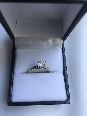 18CT YELLOW GOLD 0.51CT DIAMOND SOLITAIRE ENGAGEMENT RING 2.8 GRAMS SIZE K
