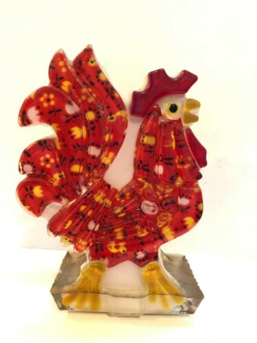 Vintage Acrylic Lucite Rooster Chicken Letter Napkin Holder By Design Gifts 1974