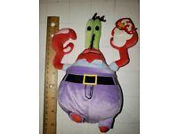 MWMT Ty Beanie Baby~ MR KRABS the Crab 4 inch Spongebob Plastic Key Clip