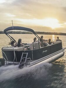 Pontoon boat rental available for the head pond