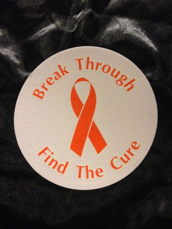 ORANGE CAUSE AWARENESS STATIC WINDOW CLING