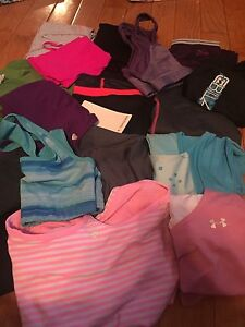 Kids and women's workout clothes