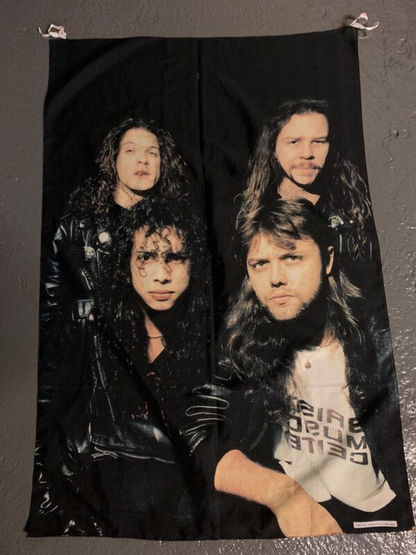 Metallica Band Poster 1994 Fabric Flag Music Band Hanging Metallica Singers