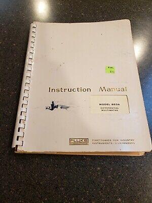 Fluke Model 853a Differential Voltmeter Instruction Manual