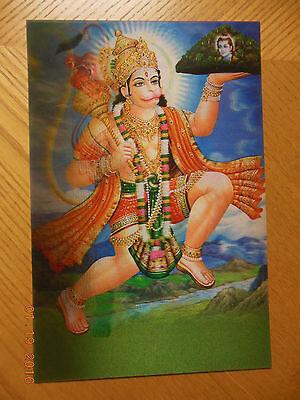Hindu Lord HANUMAN MONKEY GOD MOUNTAIN 3D PRINT Lenticular Photo Poster-